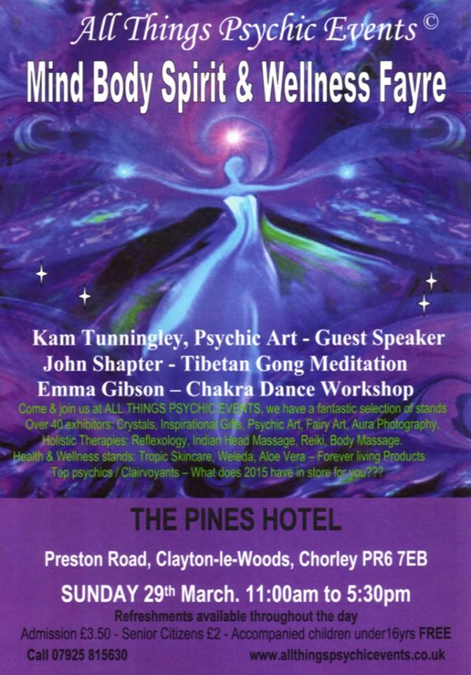 Mind Body Spirit & Wellness Fayre – Chorley